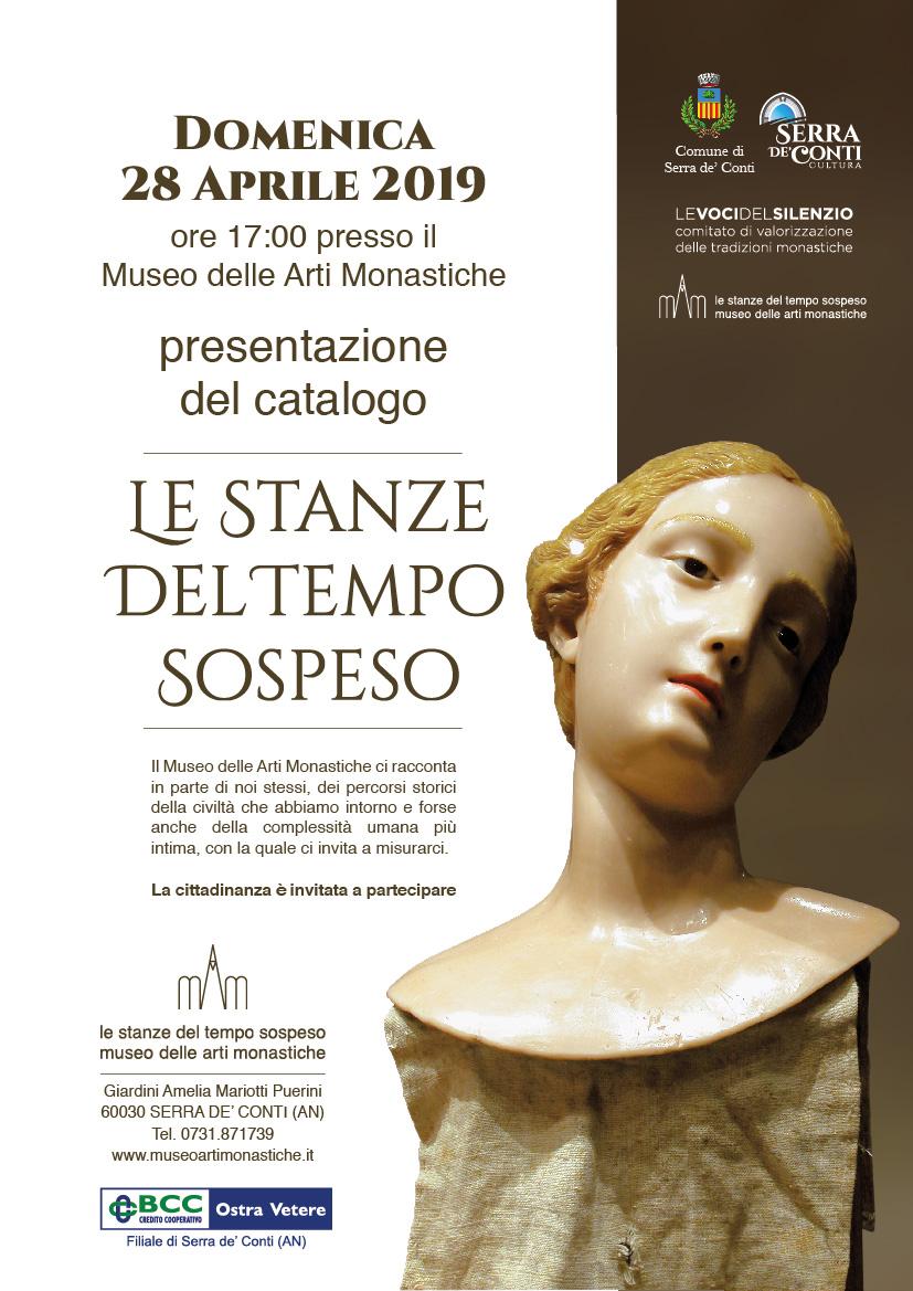 """PRESENTAZIONE DEL CATALOGO del Museo """"LE STANZE DEL TEMPO SOSPESO"""""""