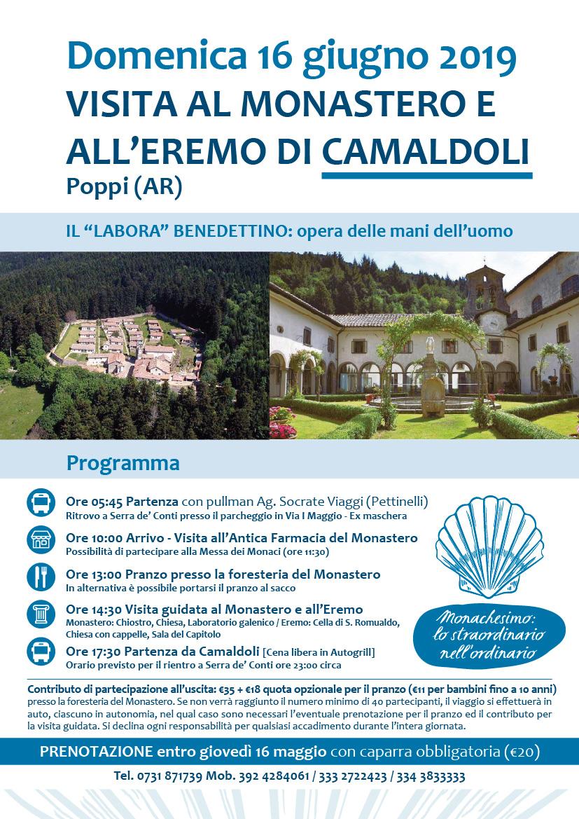 Domenica 16 giugno 2019 VISITA ALL'EREMO E AL MONASTERO DI CAMALDOLI